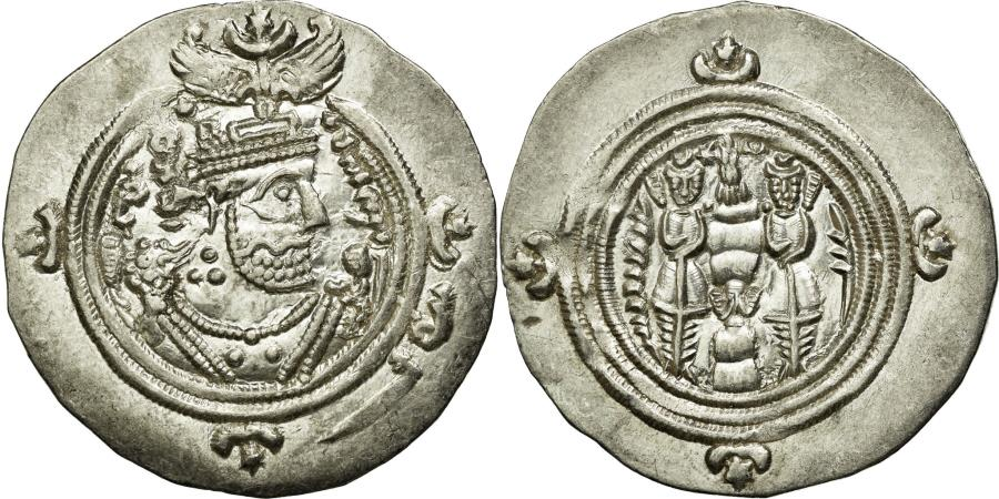 Ancient Coins - Coin, Sasanian Kings, Khusrau II, Drachm, SHY (Shiz), , Silver