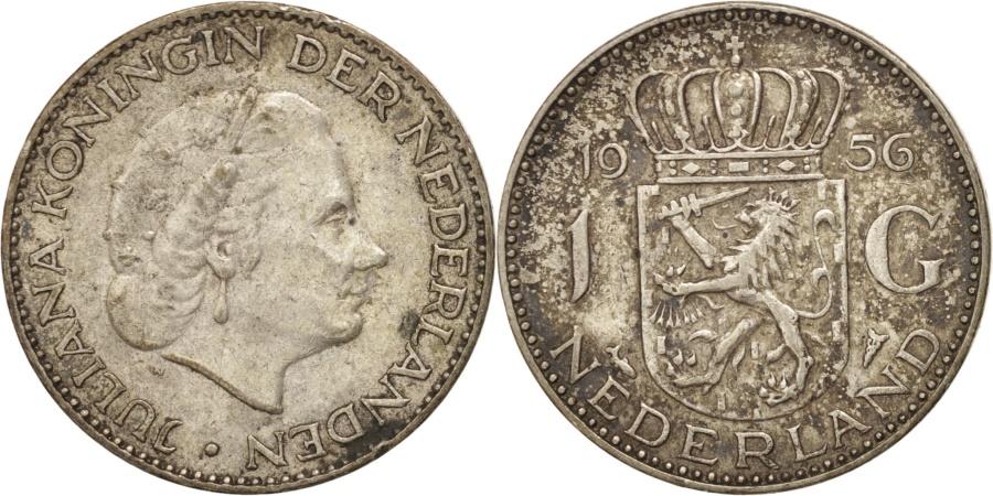 World Coins - Netherlands, Juliana, Gulden, 1956, , Silver, KM:184