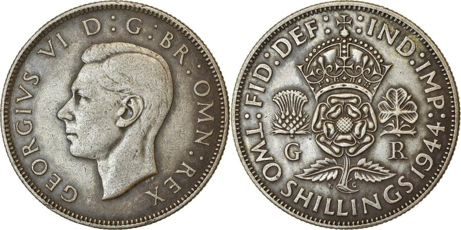 World Coins - Coin, Great Britain, George VI, Florin, Two Shillings, 1944, , Silver