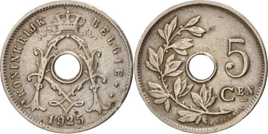 World Coins - Belgium, 5 Centimes, 1925, , Copper-nickel, KM:67