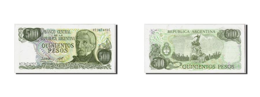 World Coins - Argentina, 500 Pesos, Undated (1977-82), KM:303b, UNC(63)