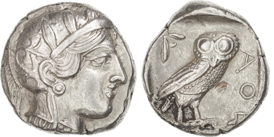 Ancient Coins - Attica, Athens (490-407 BC), Tétradrachme, Athens, , Silver, SNGCop #31
