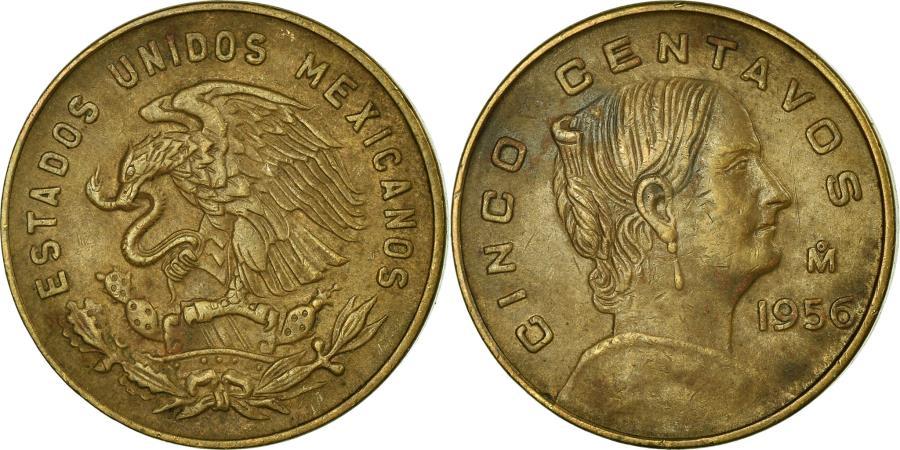 World Coins - Coin, Mexico, 5 Centavos, 1956, Mexico City, , Brass, KM:426