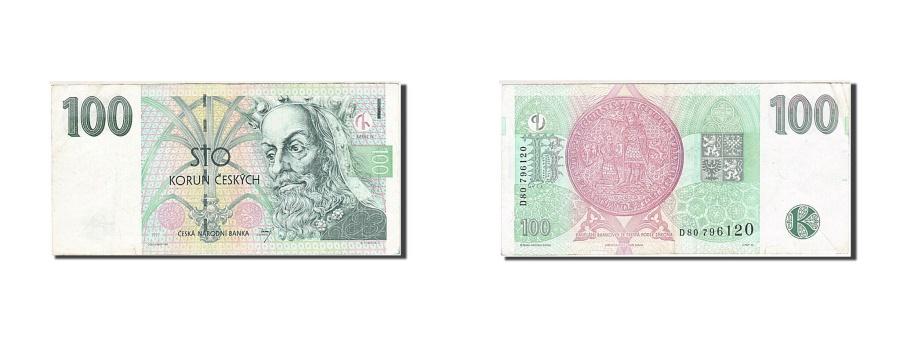 World Coins - Czech Republic, 100 Korun, 1997-1999, KM:18, 1997, VF(30-35)