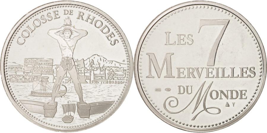World Coins - France, Medal, Merveilles du monde, Colosse de Rhodes, Arts & Culture,
