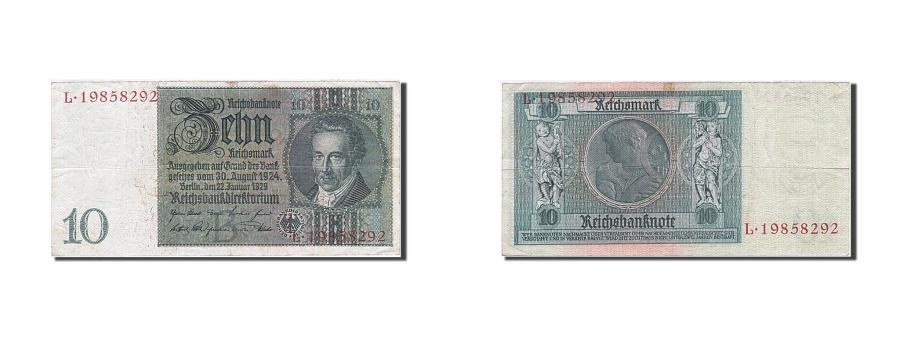 World Coins - Germany, 10 Reichsmark, 1929-1936, KM:180a, 1929-01-22, EF(40-45)