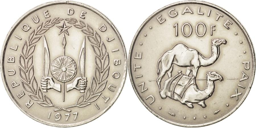 World Coins - Djibouti, 100 Francs, 1977, Paris, , Copper-nickel, KM:26