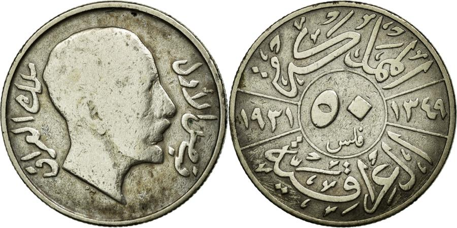 World Coins - Coin, Iraq, Faisal I, 50 Fils, 1931, Royal Mint, VF(20-25), Silver, KM:100