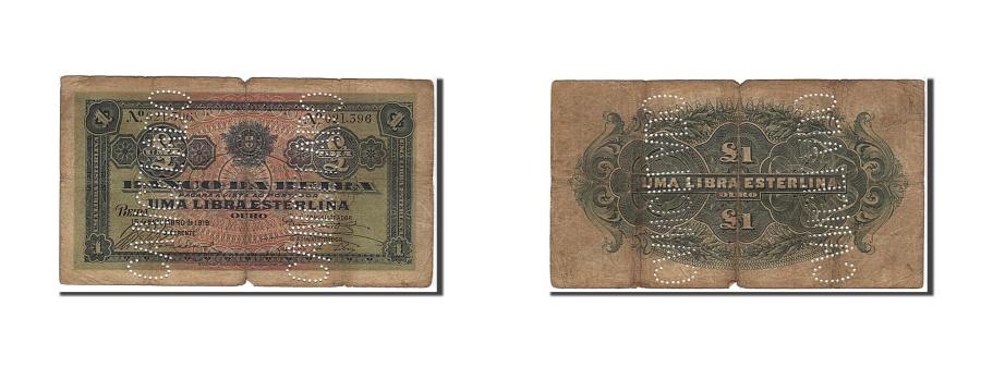 World Coins - Mozambique, 1 Libra, 1919, KM #R6c, F(12-15), 021396