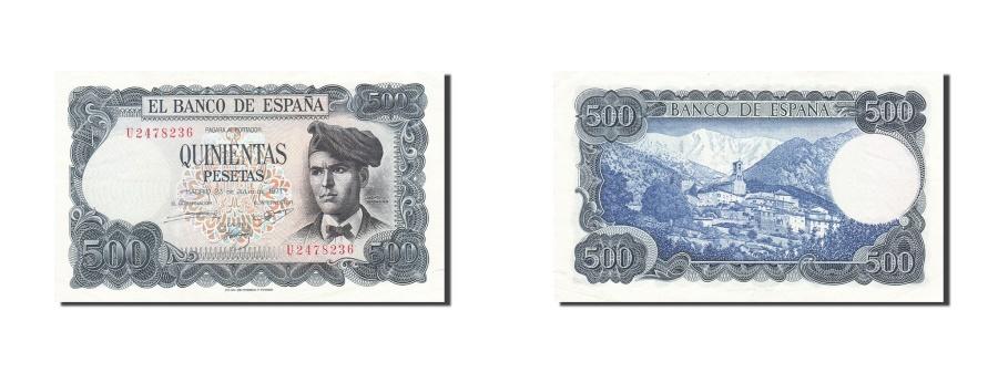 World Coins - Spain, 500 Pesetas, 1970-1971, KM:153a, 1971-07-23, AU(50-53)
