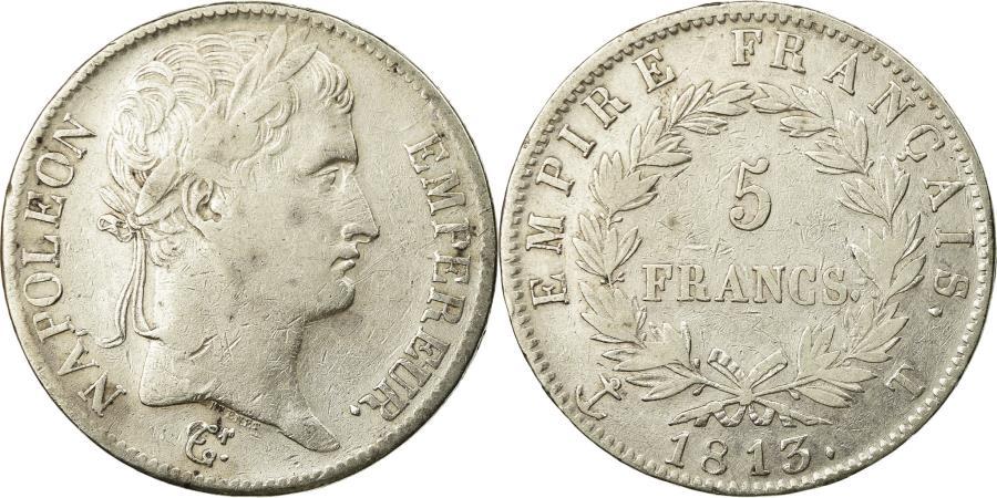 World Coins - Coin, France, Napoléon I, 5 Francs, 1813, Nantes, , Silver, KM:694.14