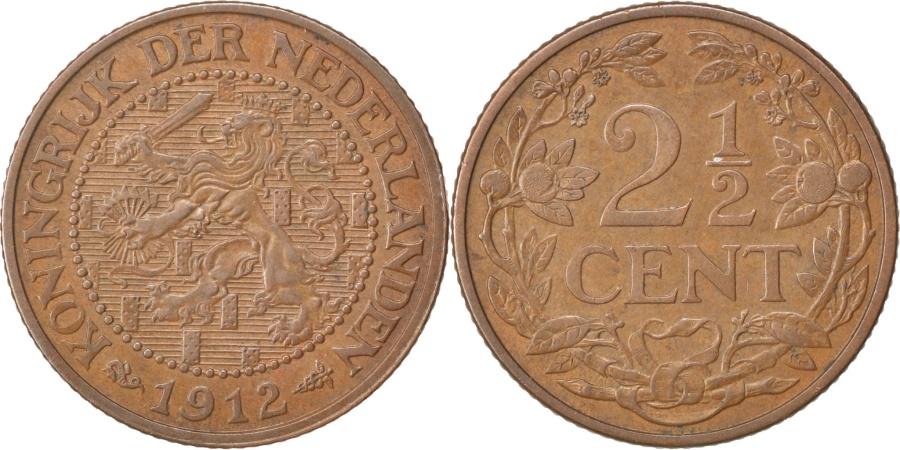 World Coins - NETHERLANDS, 2-1/2 Cent, 1912, KM #150, , Bronze, 23.4, 3.98