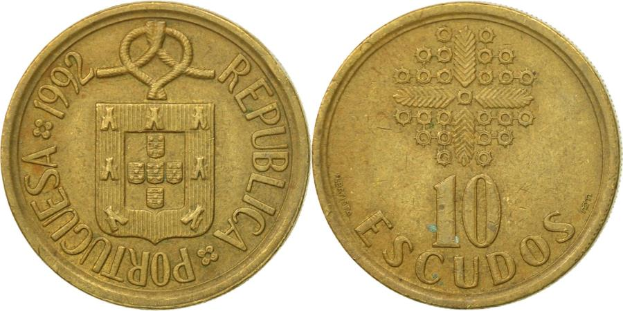 World Coins - Coin, Portugal, 10 Escudos, 1992, , Nickel-brass, KM:633