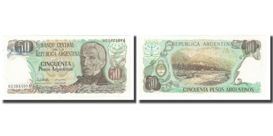 World Coins - Banknote, Argentina, 50 Pesos Argentinos, KM:314a, UNC(65-70)
