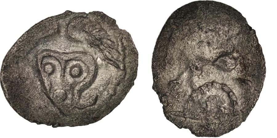 Ancient Coins - Andécaves, Obole du pont de la Chaloire, 80-50 BC, , Billon