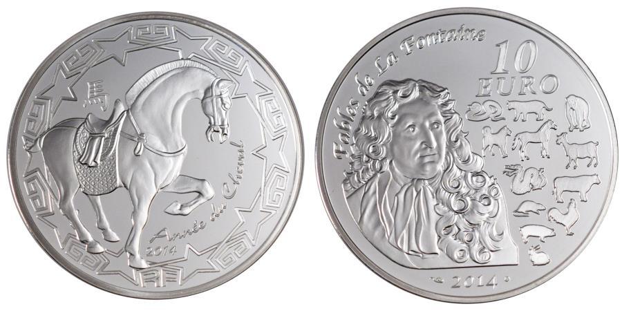 World Coins - Coin, France, 10 Euro, 2014, MS(65-70), Silver