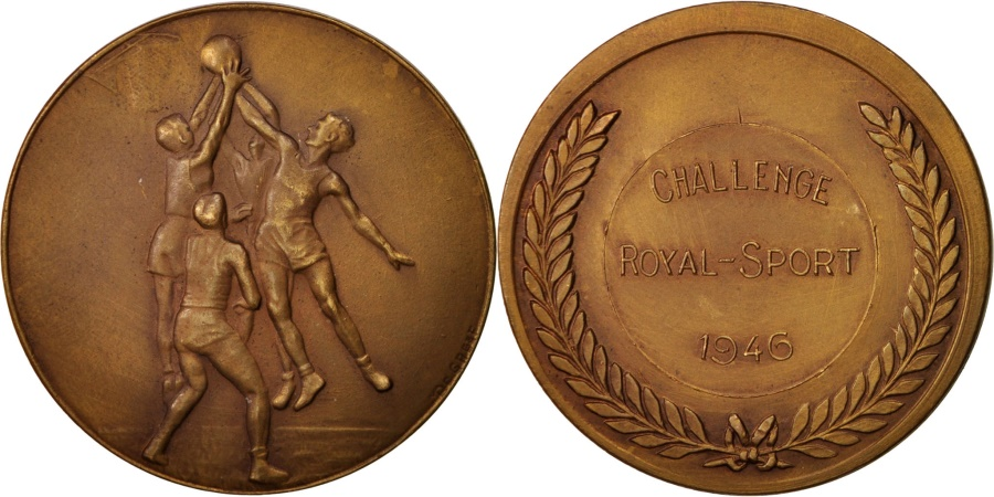 World Coins - Belgium, Medal, Basketball, Challenge Royal-Sport, Sports & leisure, 1946