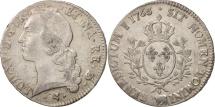 World Coins - France, Louis XV, Écu de Béarn au bandeau, 1766, Pau, VF(20-25), Silver, KM 518