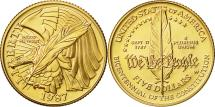Us Coins - United States, $5, Half Eagle, 1987, U.S. Mint, West Point, MS(65-70), Gold