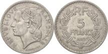 France, Lavrillier, 5 Francs, 1950, Paris, EF(40-45), Aluminum, KM:888b.1