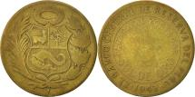 World Coins - Peru, 1/2 Sol, 1942, San Francisco, VF(20-25), Brass, KM:220.3