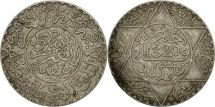 Morocco, 'Abd al-Aziz, 1/4 Rial, 2-1/2 Dirhams, 1902, London, EF(40-45), Silver