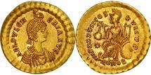 Aelia Pulcheria, Augusta, Solidus, Constantinople, MS(65-70), Gold, RIC:295