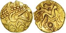 Coin, Suessiones, Stater, AU(55-58), Gold, Delestrée:168