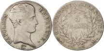 World Coins - France, Napoléon I, 5 Francs, 1805, Toulouse, VF(20-25), Silver, KM:662.10