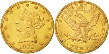 Us Coins - United States, Coronet Head, $10, 1902, Philadelphia, AU(55-58), Gold, KM:102