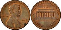 Us Coins - United States, Lincoln Cent, Cent, 1985, U.S. Mint, Philadelphia, EF(40-45)