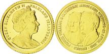 World Coins - Falkland Islands, Elizabeth II, 1/64 Crown, William and Kate, MS(65-70), Gold