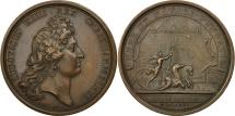 World Coins - France, Medal, Port de Rochefort, Louis XIV, 1666, Mauger, AU(55-58), Copper