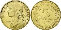 France, Marianne, 5 Centimes, 1966, Paris, MS(63), Aluminum-Bronze, KM:933