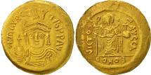 Maurice Tiberius, Solidus, Constantinople, AU(55-58), Gold, Sear:478