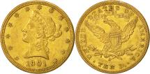 Us Coins - United States, Coronet Head, $10, 1901, New Orleans, Au(50-53), Gold, KM:102