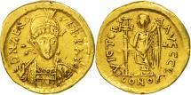 Ancient Coins - Zeno, Solidus, Constantinople, EF(40-45), Gold, RIC:910