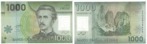 Chile, 1000 Pesos, 2010, KM:161, AU(55-58)