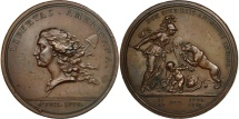 United States, Medal, Libertas Americana, History, 1781, Dupré, EF(40-45)