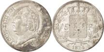 France, Louis XVIII, 5 Francs, 1824, Paris, Silver, KM:711.1