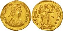 Valentinian III, Solidus, Ravenna, MS(63), Gold, RIC:2018