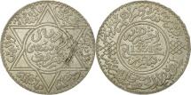 Morocco, Yusuf, Rial, 10 Dirhams, 1912, bi-Bariz, Paris, MS(60-62), Silver