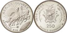 World Coins - Coin, Guinea, 250 Francs, 1970, MS(63), Silver, KM:14