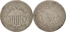 Us Coins - United States, Shield Nickel, 5 Cents, 1867, Philadelphia, G(4-6), KM 96