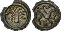 Ancient Coins - Suessiones, Area of Soissons, Potin au cheval à droite, AU(55-58), Delestré:684