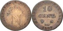 France, Napoléon I, 10 Centimes, 1808, Paris, VF(20-25), Billon, KM:676.1