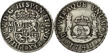 World Coins - Mexico, Philip V, 2 Réales, 1741, Mexico City, EF(40-45), Silver, KM:84