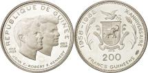 World Coins - Coin, Guinea, 200 Francs, 1970, MS(63), Silver, KM:10