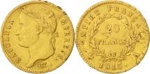 France, 20 Francs, 1813, Paris, EF(40-45), Gold, KM:695.1, Gadoury:1025