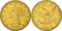 Us Coins - United States, Coronet Head, $10, 1906, Philadelphia, AU(55-58), Gold, KM:102